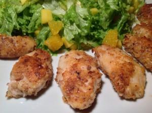 Chicken Nuggets und Salat